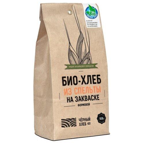 Чёрный хлеб Смесь для выпечки Био-хлеб из спельты формовой на закваске, 0.525 кг смесь для выпечки ruggeri хлеб