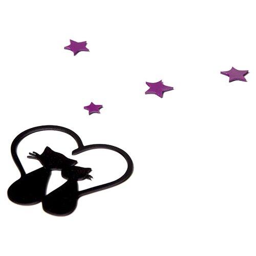 Наклейка на выключатель DS Studio Влюбленные кошки, объемная