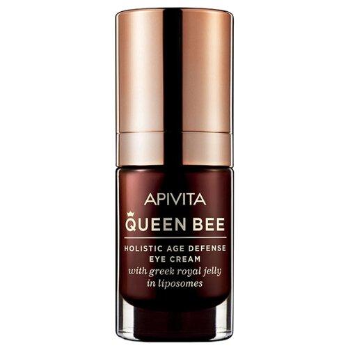 крем Apivita Queen Bee Holistic Age Defense eye cream комплексный уход против старения для кожи вокруг глаз, 15 мл