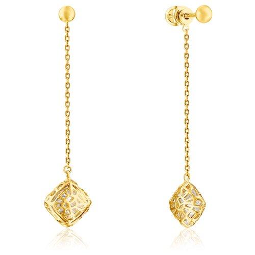 Бронницкий Ювелир Серьги из желтого золота 56311835000 бронницкий ювелир серьги из желтого золота ю1e27689r
