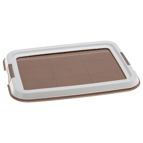 Туалет для собак Ferplast Hygienic Pad Tray 60х60х4.5 см коричневый/белый