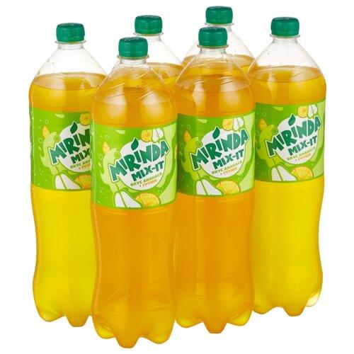 Газированный напиток Mirinda Mix-It ананас-груша, 1.5 л, 6 шт.