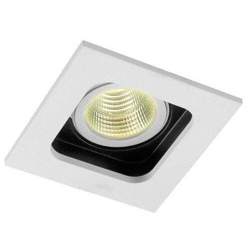 Встраиваемый светильник Donolux Holly DL18614/01WW-SQ White/Black встраиваемый светильник donolux dl132g shampagne gold