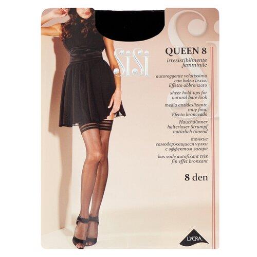 цена Чулки Sisi Queen 8 den, размер 4-L, nero (черный) онлайн в 2017 году