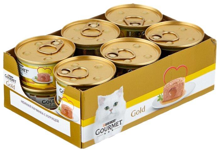 Корм для кошек Gourmet Голд с курицей 85 г (паштет)