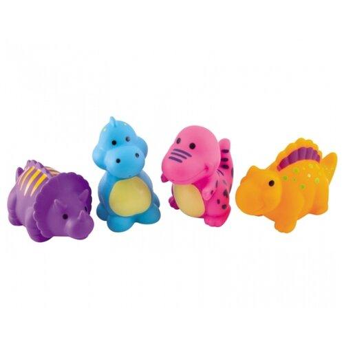 Купить Набор для ванной Canpol Babies Динозавры (2/995) голубой/фиолетовый/оранжевый/розовый, Игрушки для ванной