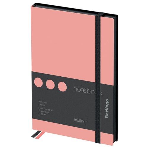 Купить Ежедневник Berlingo Instinct недатированный, искусственная кожа, А6, 80 листов, черный/фламинго, Ежедневники, записные книжки
