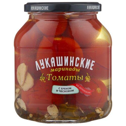Томаты с хреном и чесноком по-деревенски ЛУКАШИНСКИЕ стеклянная банка 670 г