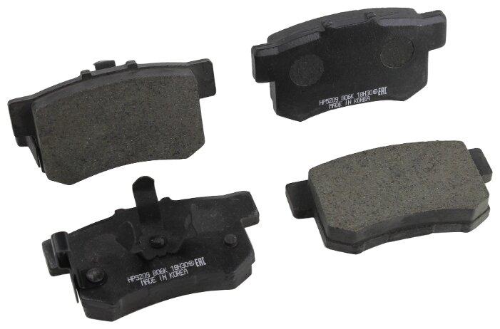 Дисковые тормозные колодки задние HONG SUNG BRAKE HP5209 для Honda Accord (4 шт.)