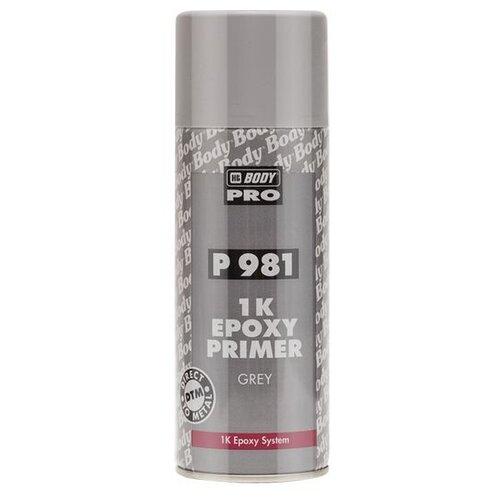 Аэрозольный грунт-праймер HB BODY P981 1K Epoxy Primer серый 0.4 л