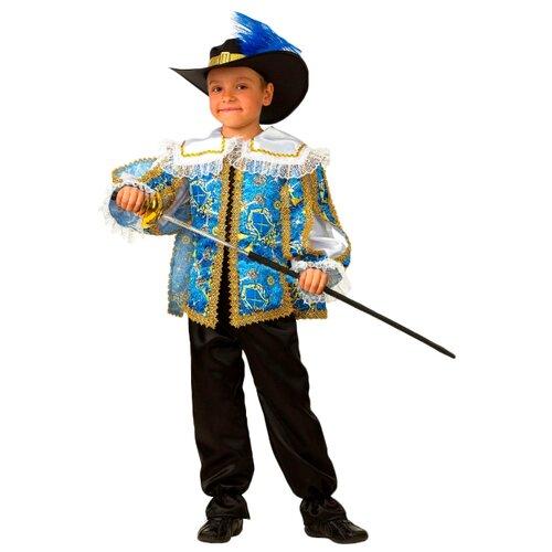 Купить Костюм Батик Мушкетёр сказочный (5212), голубой/черный, размер 104, Карнавальные костюмы