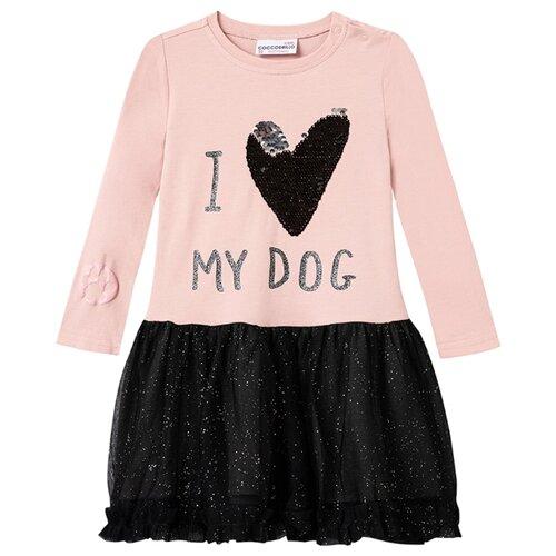 Платье COCCODRILLO WOOF размер 92, розовый/черный