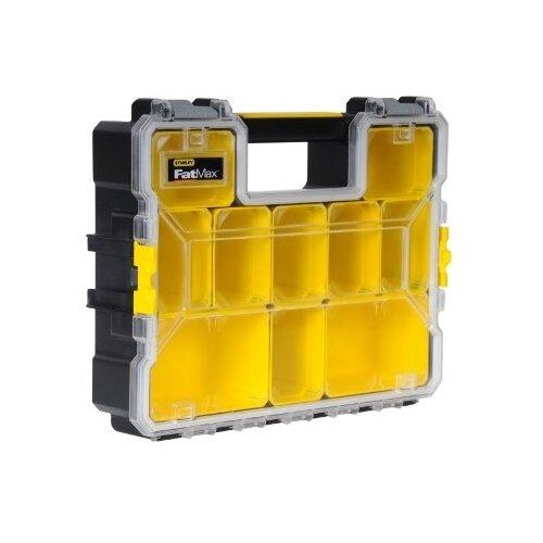 Органайзер STANLEY 1-97-521 FatMax Deep Pro Plastic Latch 44.6x35.7x11.6 см желтый органайзер профессиональный stanley fatmax shallow pro plastic latch 1 97 519