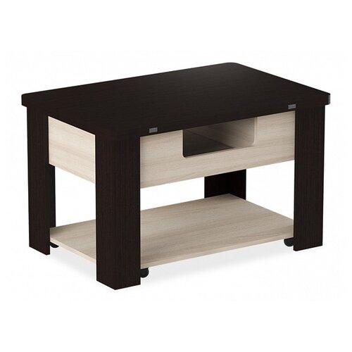 Стол кухонный Mebwill Стэп 4, раскладной, ДхШ: 60 х 90 см, длина в разложенном виде: 120 см, венге/ясень шимо светлый по цене 9 256