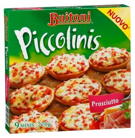 Buitoni Замороженная пицца Piccolinis Prosciutto Ветчинная (9 minis) 270 г