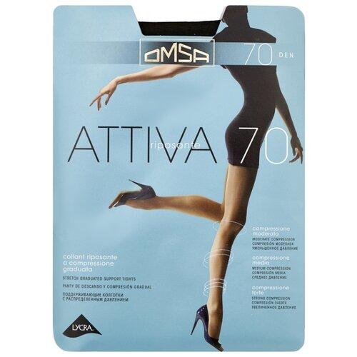 Колготки Omsa Attiva 70 den, размер 5-MAXI, fumo (серый) колготки omsa attiva 30 den размер 2 s fumo серый