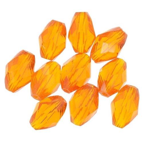 Купить Бусины стеклянные, 10 штук, 11x8 мм, цвет: 24 (арт. Z-714), Astra & Craft, Фурнитура для украшений