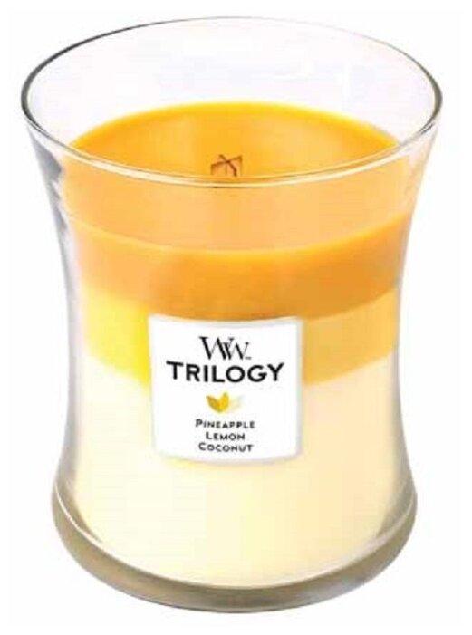 Свеча WoodWick Trilogy Fruits of Summer (Pineapple, Lemon, Coconut) (92958), средняя