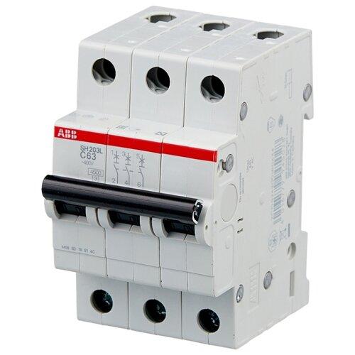 Автоматический выключатель ABB SH203L 3P (С) 4,5kA 63 А автомат abb sh203l c25