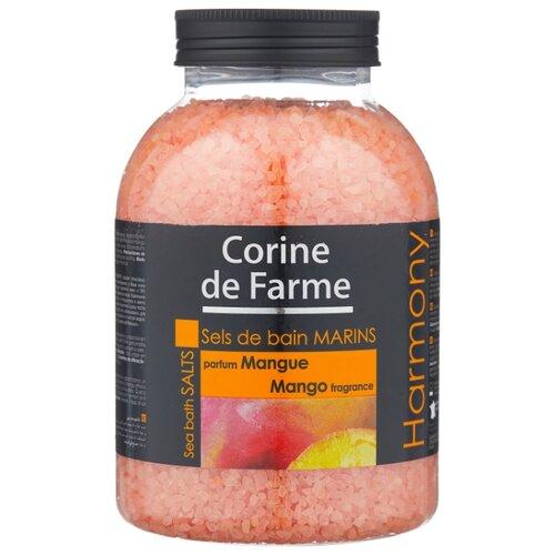 CORINE de FARME Морская соль для ванн Harmony Манго 1300 г шампунь corine de farme купить