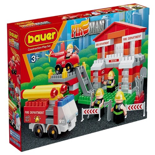 Купить Конструктор Bauer Fireman 742-164 Пожарная часть, Конструкторы