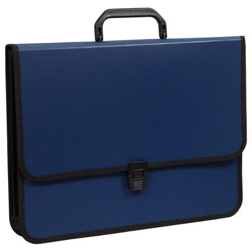 Купить OfficeSpace Папка-портфель 2 отделения A4+, на замке, пластик синий, Файлы и папки