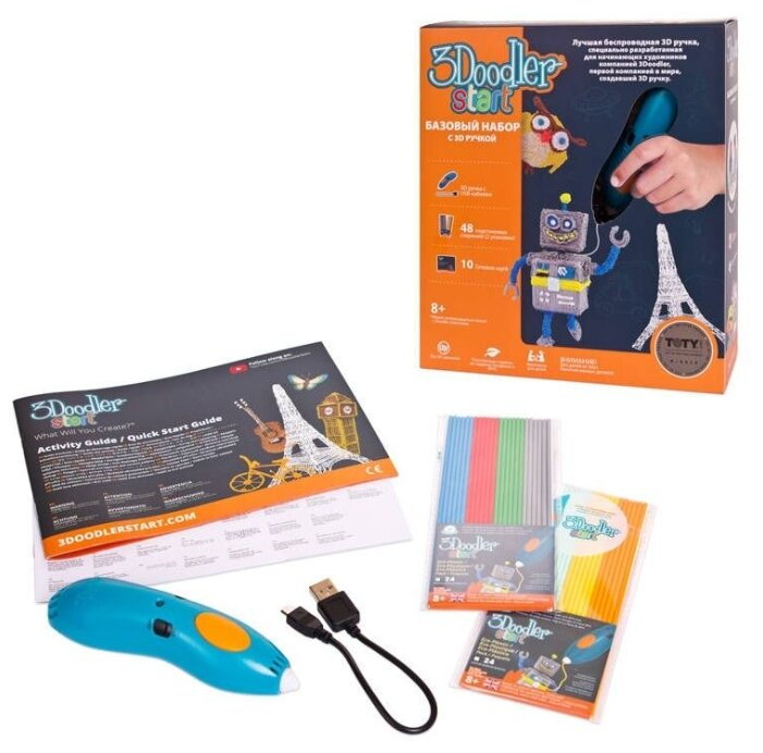 3D-ручка 3Doodler Essentials 3D Printing Pen Set синий фото 1