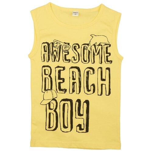 Купить Майка #Repost размер 146, желтый, Белье и пляжная мода