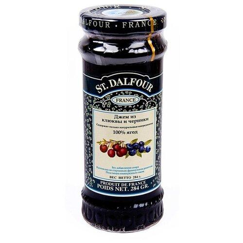 Джем St. Dalfour из клюквы и черники без сахара, банка 284 г