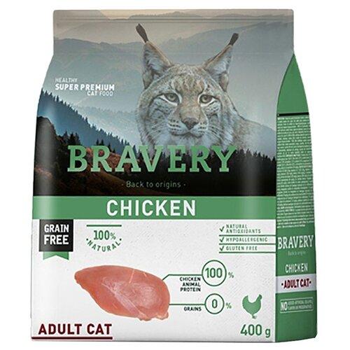 Корм для кошек Bravery беззерновой, с курицей 400 г
