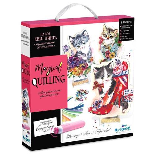 Купить Origami Magical quilling Набор квиллинга Пушистые котята белый/розовый, Квиллинг