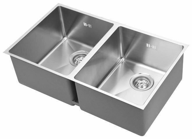 Интегрированная кухонная мойка AQUASANITA Enna ENN200L 76х45см нержавеющая сталь