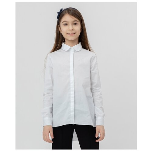Купить Рубашка Button Blue размер 164, белый, Рубашки и блузы