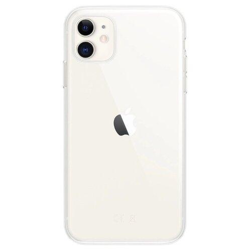 Купить Чехол Gurdini для Apple iPhone 11 (силикон плотный прозрачный) бесцветный