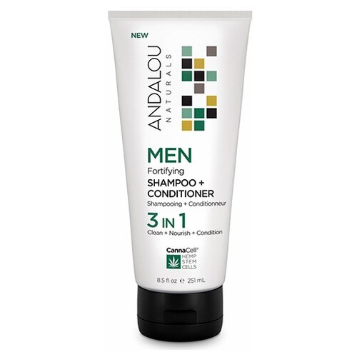 Andalou Naturals шампунь+кондиционер Men Fortifying Canna Cell 3 in 1, 251 мл