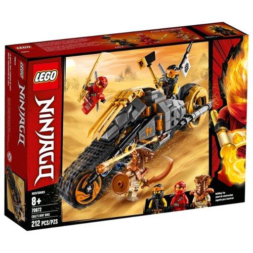 Конструктор LEGO Ninjago 70672 Раллийный мотоцикл Коула lego ninjago 70672 раллийный мотоцикл коула конструктор