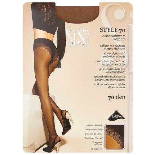 Колготки Sisi Style 70 den, размер 4-L, daino (бежевый) колготки sisi style 70 den размер 4 l daino бежевый