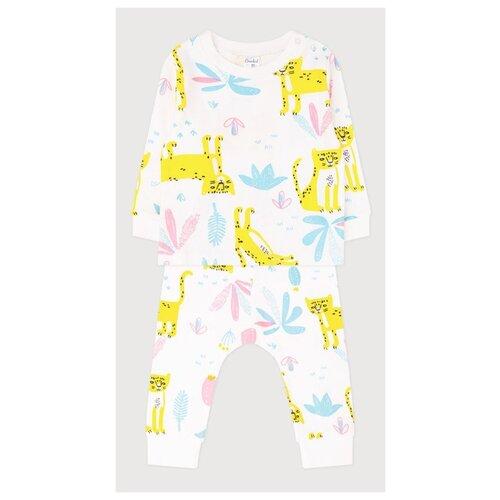 Комплект одежды crockid размер 68, маленькие леопарды на сахаре комплект одежды optop размер 134 бледно желтый круги на сахаре