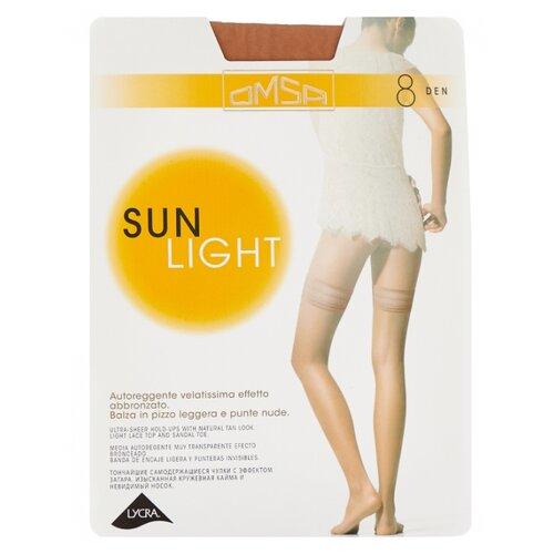 Чулки Omsa Sun Light Aut 8 den, размер 2-S, beige naturel (бежевый) колготки omsa sun light 8 beige naturel бежево телесные размер 4
