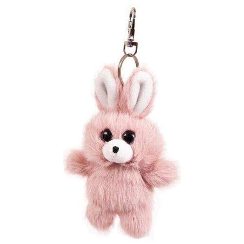 Купить Игрушка-брелок ABtoys Флэтси Мини Зайка розовый 9.5 см, Мягкие игрушки
