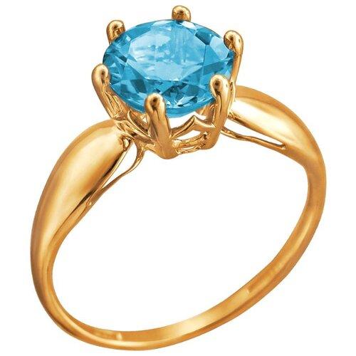Эстет Кольцо с 1 топазом из красного золота 01К3112171-5, размер 19 фото
