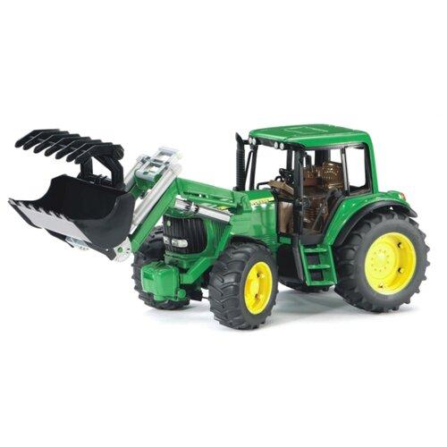 Трактор Bruder John Deere 6920 с погрузчиком (02-052) 1:16 38.5 см зеленый трактор bruder john deere 6920