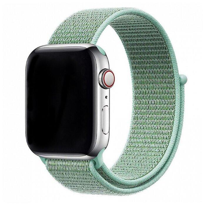Ремешок Gurdini Sport Loop Nike для Apple Watch 38/40 мм серо-лимонный (Flash)