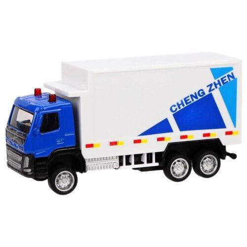 Купить Грузовик Пламенный мотор 870408 1:72 12 см белый/голубой, Машинки и техника