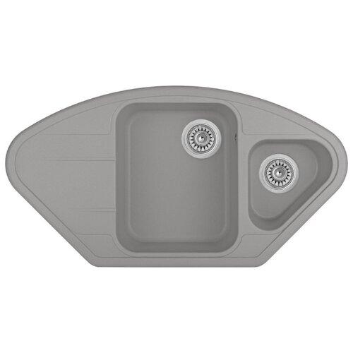 Врезная кухонная мойка 96 см Longran Lotus LTG 960.510.15 крома