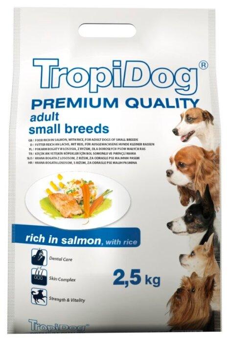 Корм для собак TropiDog лосось с рисом