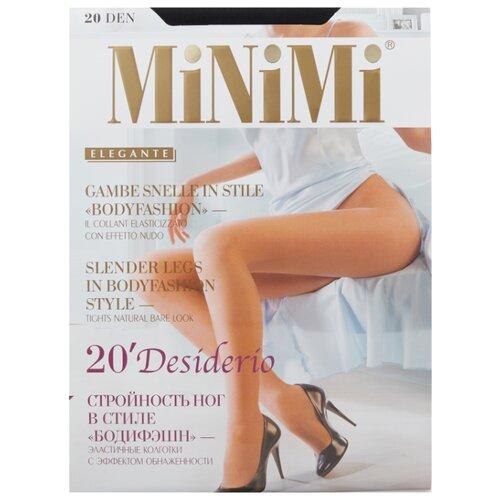 Колготки MiNiMi Desiderio (Nudo) 20 den, размер 3-M, nero (черный) колготки minimi desiderio nudo 20 den размер 3 m nero черный
