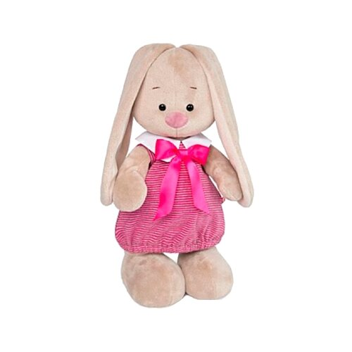 Фото - Мягкая игрушка Зайка Ми в платье в розовую полоску 25 см мягкая игрушка зайка ми в лиловом 23 см