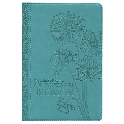 Ежедневник Collezione Весенние цветочки-2 датированный, искусственная кожа, А5, 168 листов, бирюзовый ежедневник brauberg senator датированный на 2021 год искусственная кожа а5 168 листов черный