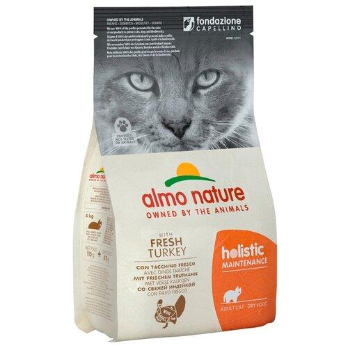 Сухой корм для кошек Almo Nature Holistic, гипоаллергенный, профилактика избыточного веса, с индейкой 12 кг
